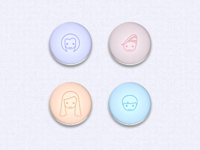 Glass Buttons pastel glass buttons icons faces debut illustrator photoshop