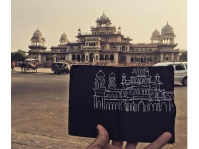 Palaces too grand for Sketchbooks gel-pen sketchbook india-ink illustration 2d