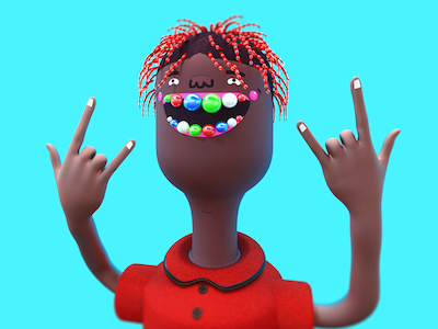 Lil Yachty adobe cinema4d caricature cinema 3d design yatchy trap rapper character