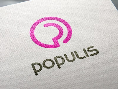 Populis Logo & Type Design logo branding type font sign initial purple gray vector construction