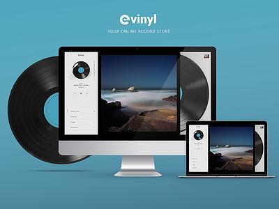 eVinyl - Online Record Store app vintage online crowdsourcing store record gui player vinyl