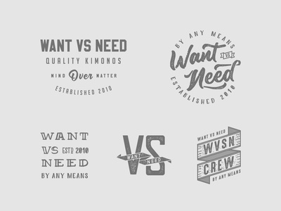 Want Vs Need Artwork