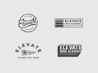 Elevate MMA Academy logos