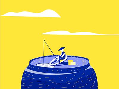 Pepsi Fishing hat chinese dream colorful surreal fisherman fishing can pepsi