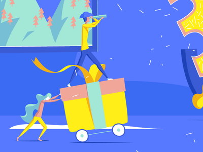 30's Birthday - Zoom ! little people invitation illustrator happy gift card birthday 30