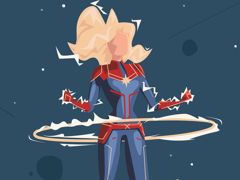 Captain Marvel hula hoop brie larson endgame infinitywar power space woman marvel captain marvel