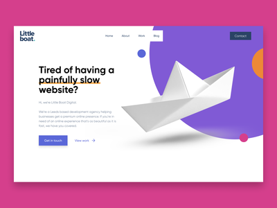 Little Boat Digital branding landing page ui