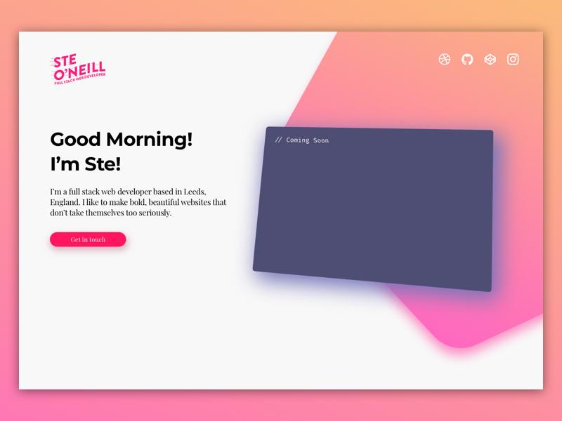 Daily UI #003 - Landing Page gradients gradient daily ui dailyui