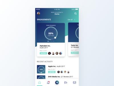 FinTech iOS App Concept