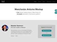 One page responsive site