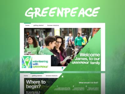 Greenpeace Volunteers: Onboarding Redesign