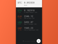 Cryptocurrency conversion android application