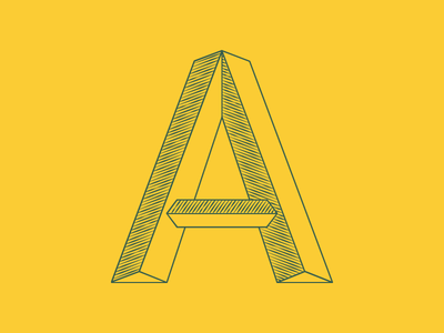 A Glyph A Day #27 glyph agad type typography march project experimental font a capital letter lettering 3d shading shape form retro hipster hipsta a glyph a day type design