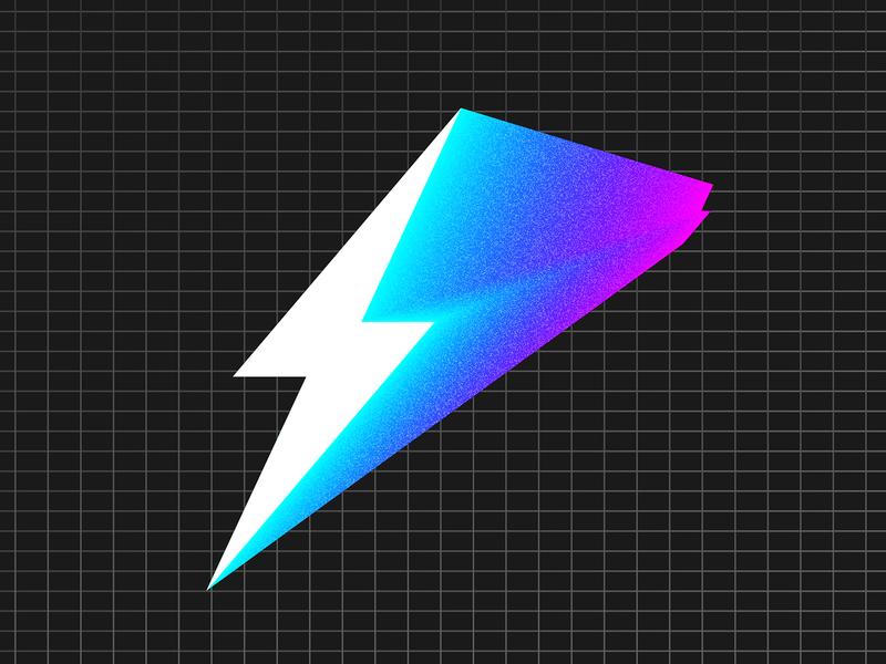 Team ⚡️Background logo tron grid 80s neon bolt lightning