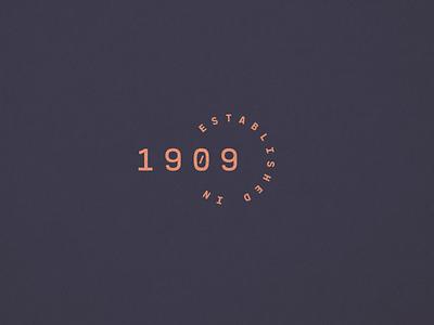 1909 Marks seal numbers date 1909 est established identity mark logo branding