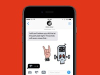 Metalhead Sticker App Launch