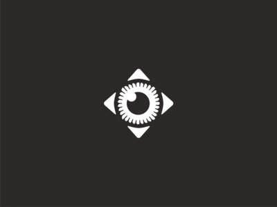 Eye Compass iris pupil direction arrow compass eyeball eye illustration icon