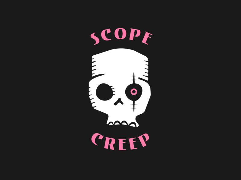 Scope Creep logo illustration punk skull icon moba esports gaming creep scope logo