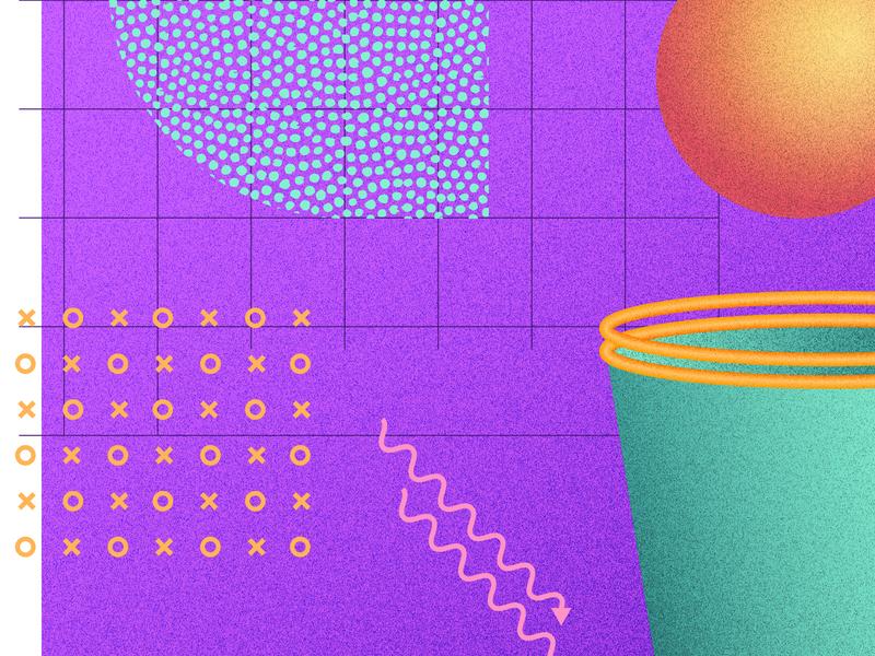 80s Illustration geometric geometry sports color pattern composition 3d rad retro 80s illustration