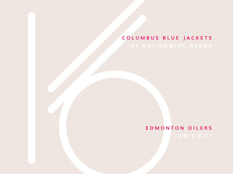 Blue Jackets Score: January 3, 2017 infographics nhl sports minimal data data visualization hockey blue jackets columbus typography score