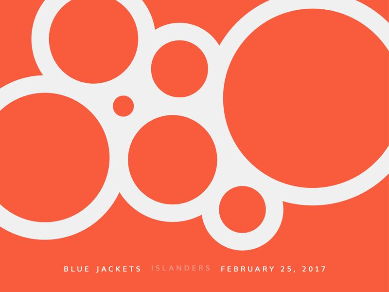 Blue Jackets Score: February 25, 2017 score columbus blue jackets hockey data visualization data minimal sports nhl infographics