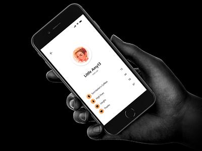Commuto - User profile rewards [WIP] minimal flat dashboard social user interface ux interface mobile screen mobile user profile ios app orange rewards user profile profile mobile ios application ui clean