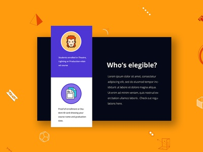 Wyg student edition landing page background geometric product yellow color clean design visual ui creative page landing
