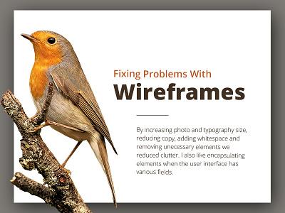 Bird minimal clean site website typography landing page landing wwf animal bird