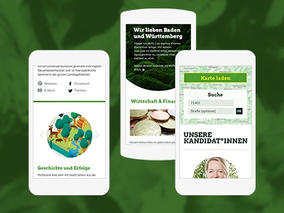 german party mobile website website responsive party mobile