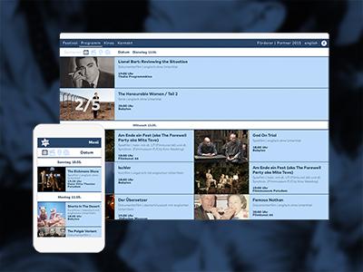 filmfestival responsive website website schedule responsive festival film calendar