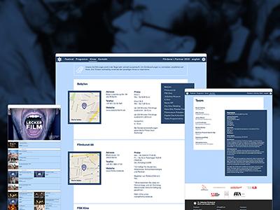 filmfestival responsive website website schedule responsive filmfestival film festival calendar