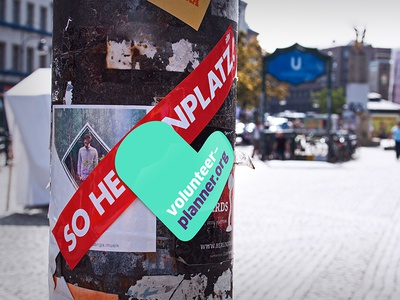 volunteer responsive sticker logo street sticker responsive calendar planner