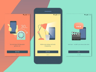 zenjob android app – on boarding screens material design android goodpatch zenjob on boarding ui illustration
