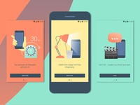 zenjob android app – on boarding screens