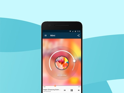 Mimi Music android app – music player player music material design android music player goodpatch ui