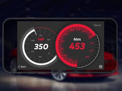 Mobile Performance Instruments cluster display concept automotive tesla vehicle interface dashboard ivi car ui car ui