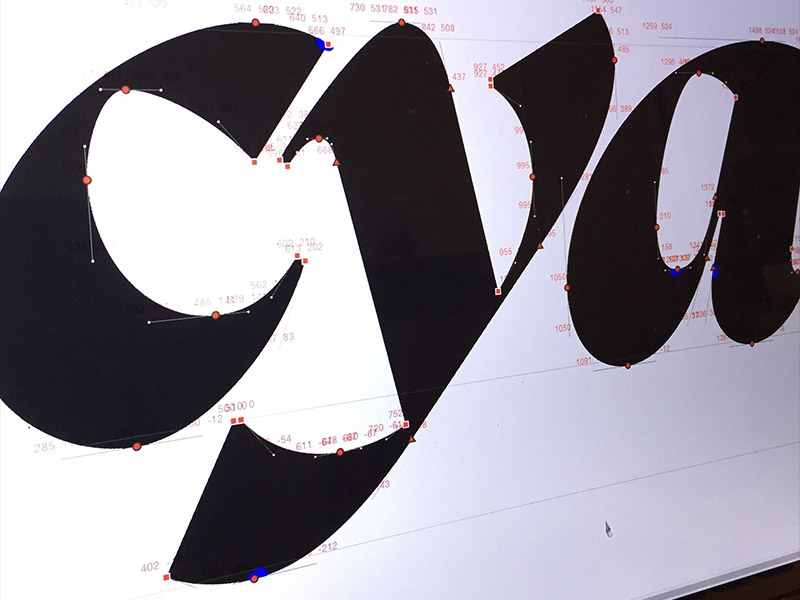 GT Super Display Super Italic in progress by Grilli Type on