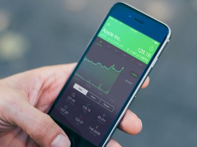 Stocks & Finance App ui icon app ux mobile iphone ios stock finance