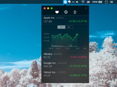 Stocks Mini For Mac ui icon app ux mobile iphone ios stock finance