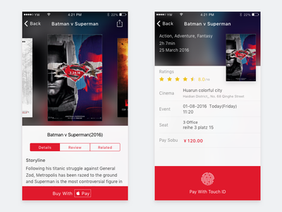 Movie app ios app iphone movie apple pay