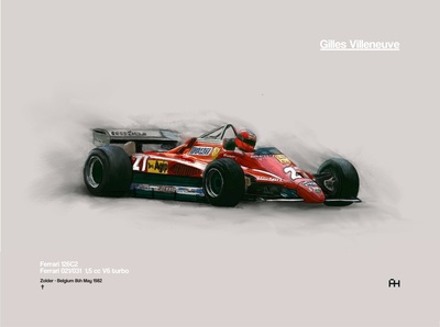 N6 Ferrari 126c-  Gilles Vilneuve procreate digital illustration digitalart formulaone f1cars ferrari