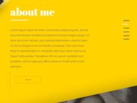 onepage About Me - selfpresentation page