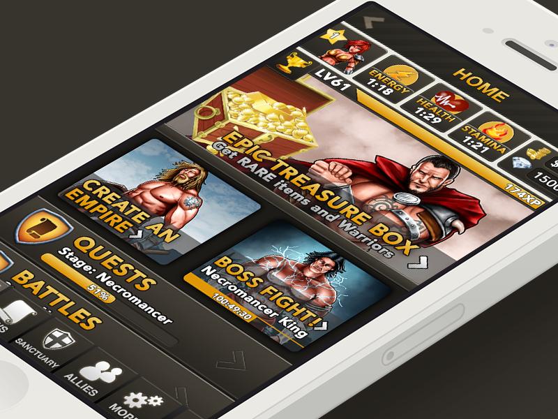 Fantasy for iOS ios game fantasy iphone brown rpg illustration orange quest battle home screen