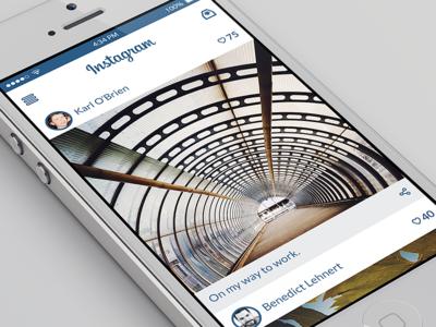 Instagram for iOS Concept (PSD)