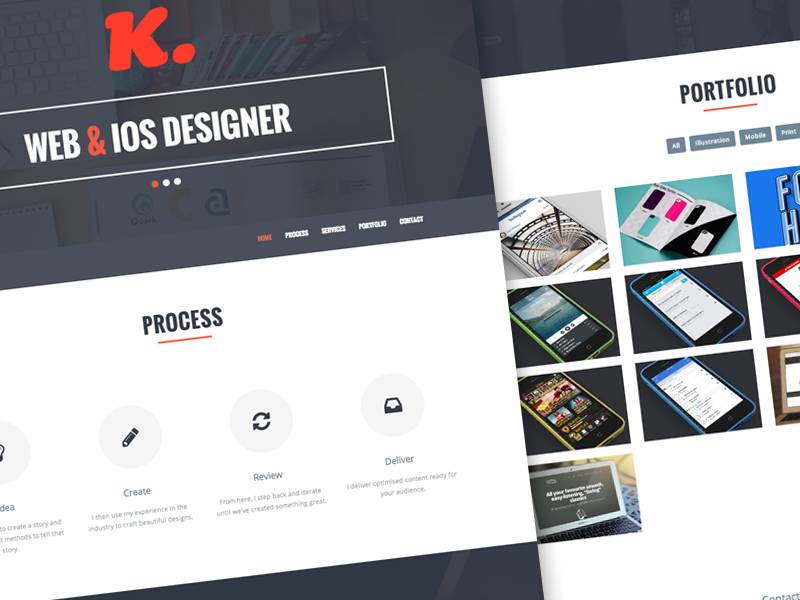 Portfolio Redesign portfolio web online typography one page png