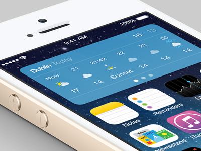 [PSD] iOS 8 Weather Widget Freebie