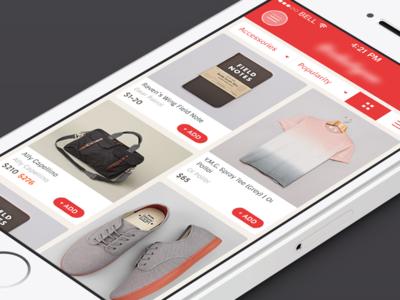 Marketplace Screen