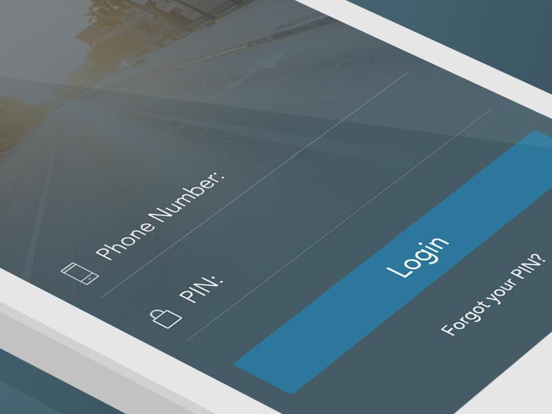 Simple Login Screen login ios iphone pin phone ui interface typography icon icons