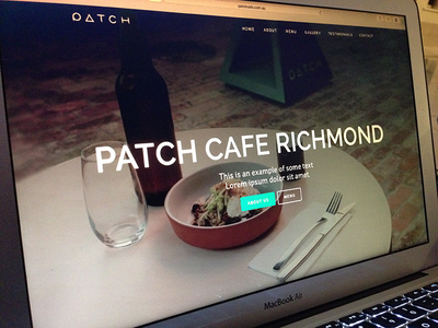 Cafe Website (WIP) website ui user interface wip cafe typography food screen mac osx