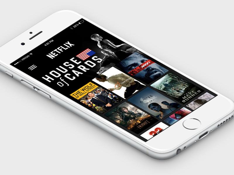Netflix for iPhone 6 Concept [Free PSD] netflix ios ios 8 ios8 concept psd freebie free iphone
